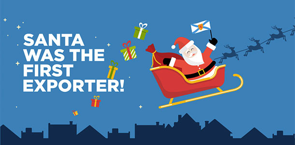 Santa was the first exporter!